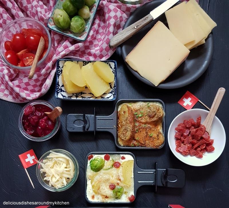Raclette Suisse- Kreative Raclette- Pfännchen klassisch mit Kartoffeln